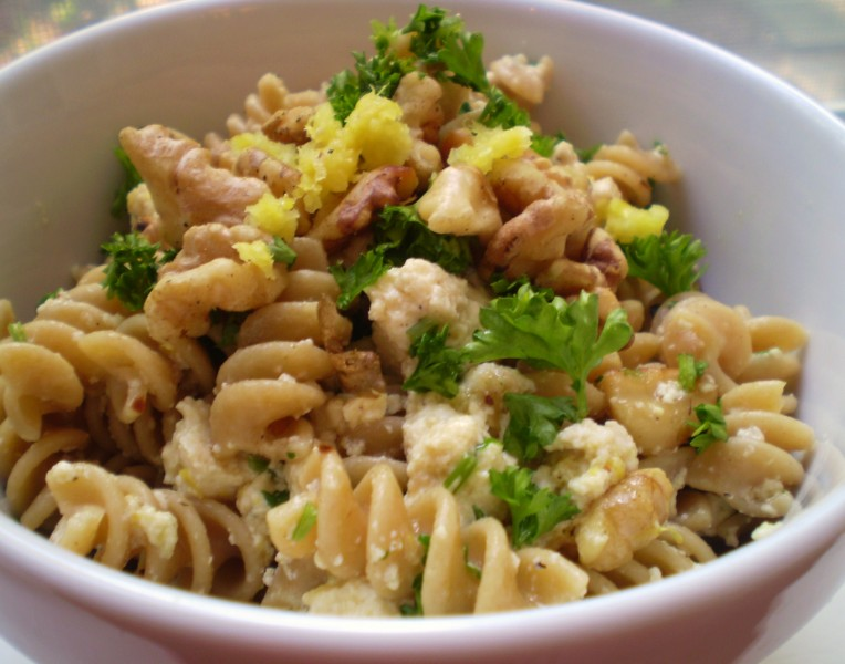 "Pasta with Vegan ""Ricotta,"" Toasted Walnuts, Parsley, Lemon, and ..."