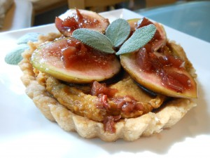 Savory Southern Tart with Smoky Butterbean Puree, Fresh Figs, and Sweet Tea Drizzle