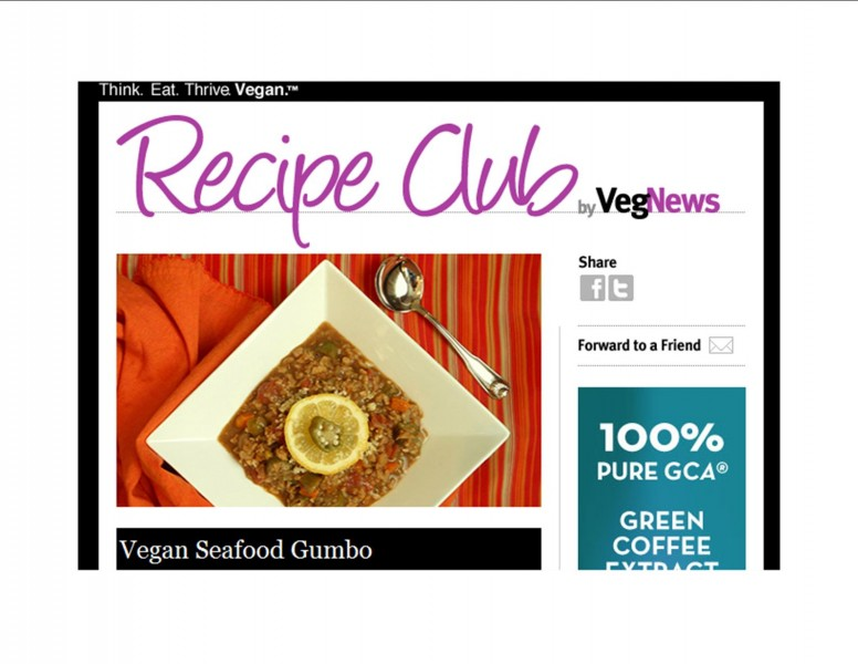 VegnNews Recipe Club--Vegan Seafood Gumbo--Screenshot