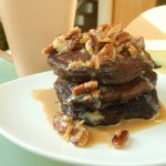 Mouthwatering Mother's Day Breakfast/Brunch: Vegan German Chocolate Pancakes with Coconut Pecan Maple Syrup