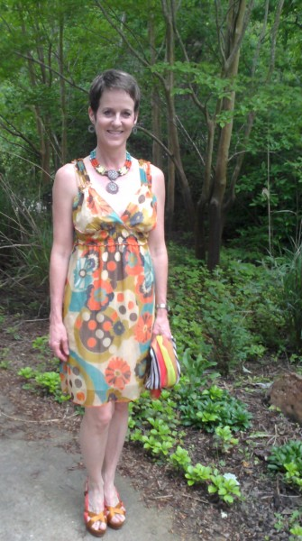 Consignment Dress, Necklace, Shoes and Scarf-2