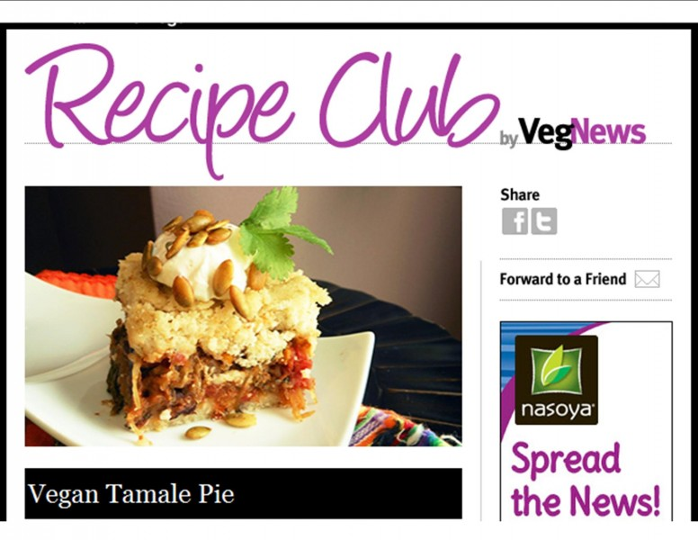 Tamale Pie--VegNews--Recipe Club--May 2013