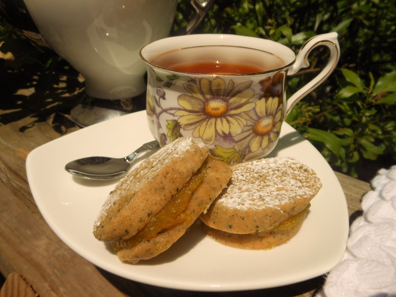 Lemon Verbena Shortbread Sandwich Cookies with Lemon Curd Filling 1