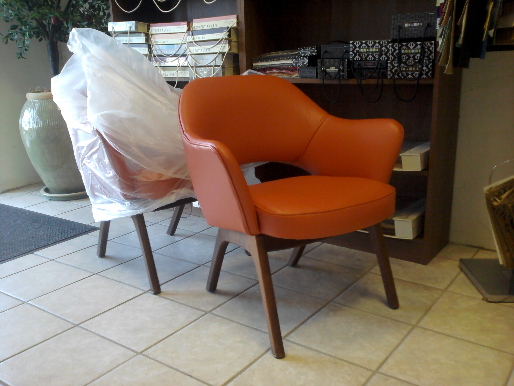 Saarinen Arm Chairs Reupholstered Mid