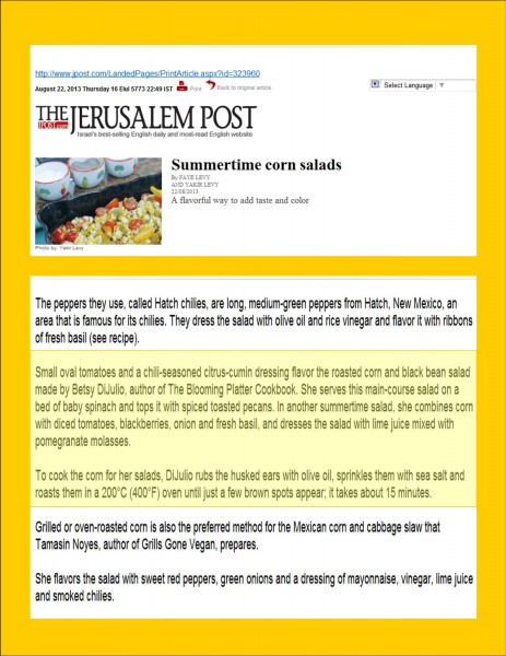 Jerusalem Post--Corn Article