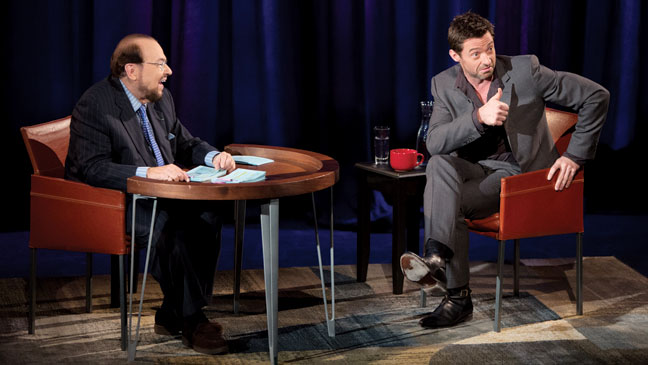 "James Lipton and Hugh Jackman, ""Inside the Actor's Studio.""  Photo Credit: The Hollywood Reporter"