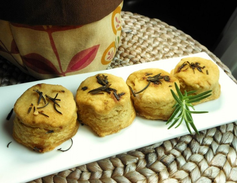 White Bean Biscuits with Rosemary Butter