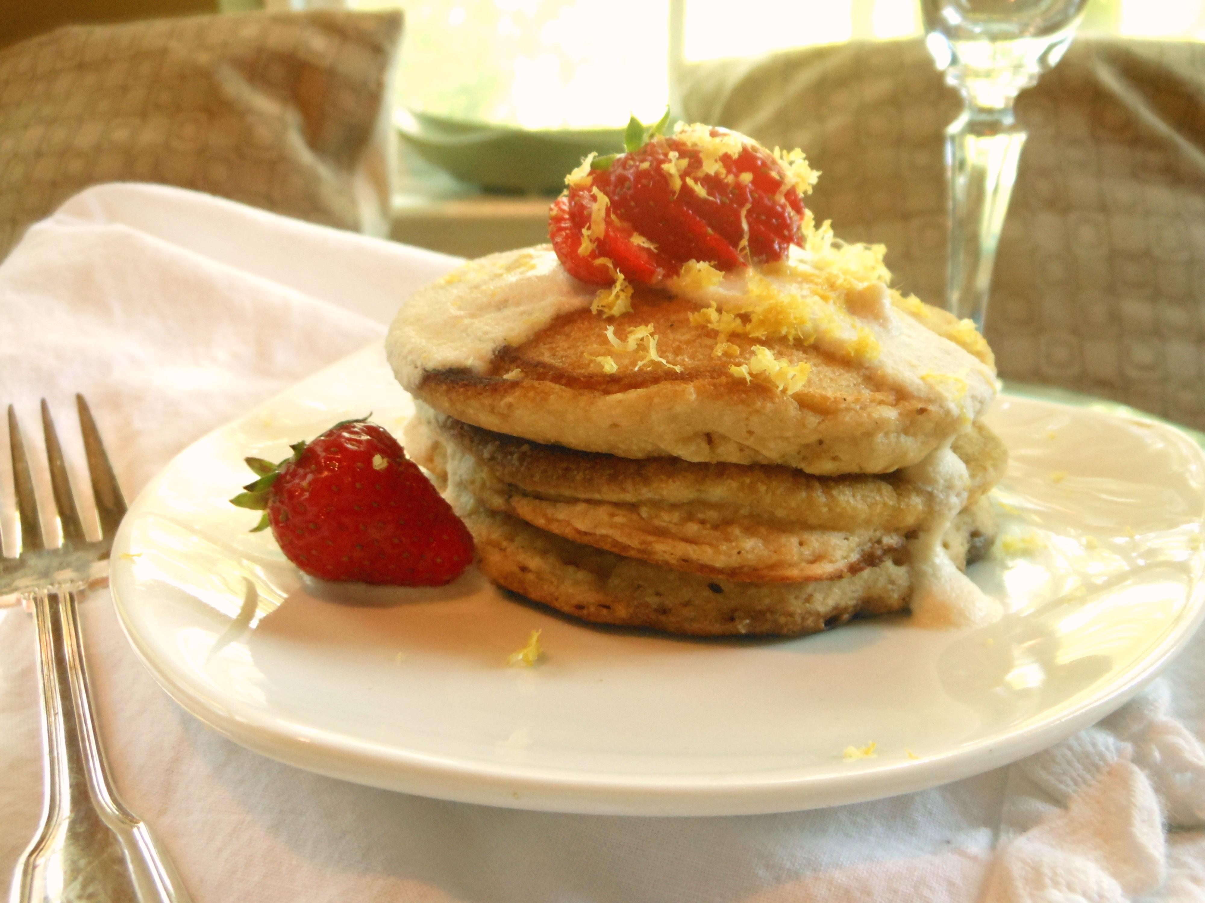 Lemon Ricotta Pancakes Recipe — Dishmaps