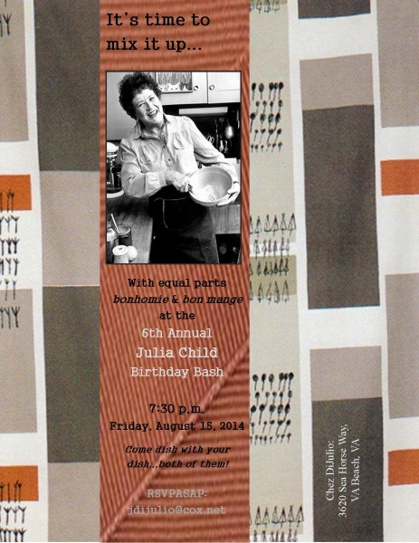 Julia Child Birthday Bash Invitation 2014