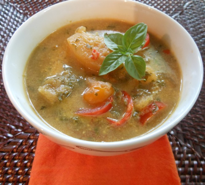 Thai Coconut Milk and Vegetable Soup 1