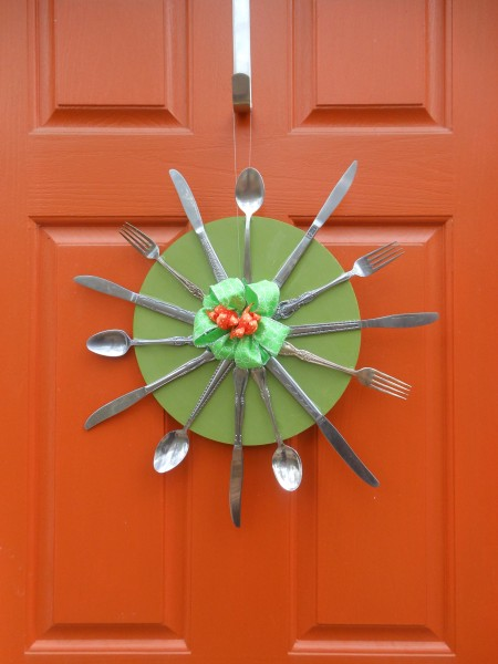 Starburst Silverware Wreath