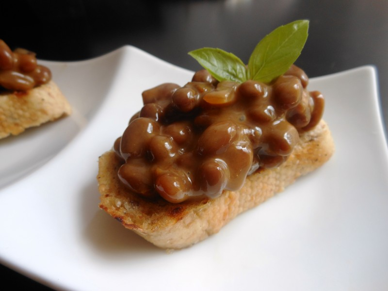 Baked Bean Crostini