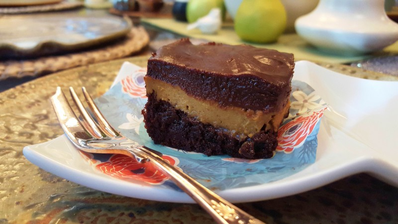 Layered Fudge and Pumpkin Brownies--horizontal
