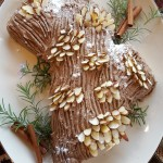 Vegan Buche de Noel–with Chocolate Mousse Filling and Mocha Buttercream Frosting