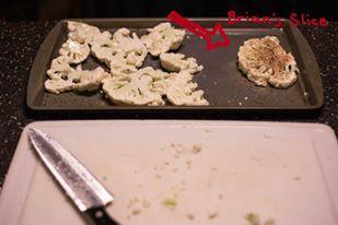 Day 2--Indian Cauliflower Wraps--prep