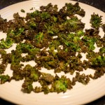 "Day 7: Krispy Kale–""Cooking 'The Blooming Platter Cookbook' Julie & Julia Style"""