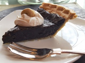 Vegan Chocolate Chess Pie