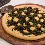 "Day 19: Vegan Kale & Sundried Tomato Pizza AND Sherried Mushroom Bruschetta–""Cooking 'The Blooming Platter Cookbook' Julie & Julia Style"""