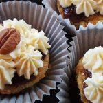 Orange Mini-Cakes with Bourbon-Pecan Caramel & Orange Buttercream–A Memorial Birthday Cake for Mama
