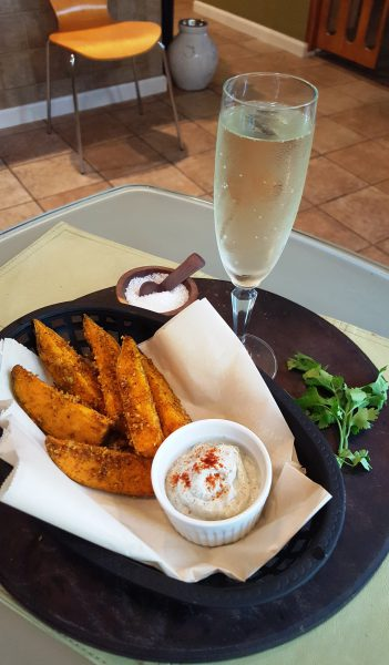 Indian Spiced French Fries and Champagne