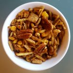 Vegan Mustard Maple Chex Mix<br>This is Chex on Steroids!