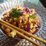Vegan Red Curry Popcorn with Cashews and Cabbage<br> (I know this sounds a bit odd, <br>but it is outrageously declicious)
