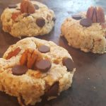 Vegan (Practically) Raw Chocolate Chip Cookies<br>(Gluten-Free)