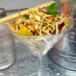 Vegan Flexy Sexy Asian Slaw<br>(with popcorn, my fave new slaw ingredient)
