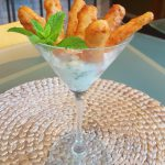 Vegan Carrot Fries<br>with Lemon-Basil Dipping Sauce