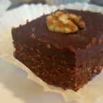 Best Vegan (Practically) Raw Brownies<br>with Fudgy Ganache Frosting