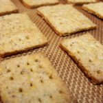 Vegan Whole Wheat-Flax/Chia Seed Crackers