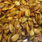Vegan Roasted Za'atar Spiced Pumpkin Seeds