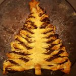 Vegan Nutella and Puff Pastry Christmas Tree