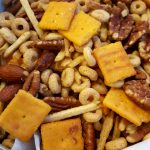 Vegan (Outrageous!) Loaded Tater Tot Chex Mix<br>without the Chex