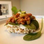 "Vegan Chipotle Baked Bean Open-Faced ""Sammie"""