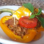 Vegan Southwestern Veggie-Stuffed Peppers<br>A Low-Cal Dish Packed with Flavor