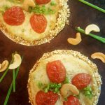 Scallion-Basil-Tomato Tarts with Popcorn-Cashew Crust