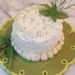 Vegan Bologna Cake<br>with Vegan Herbed Cream and Goat Cheese Frosting