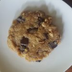 Vegan Microwave Chocolate Chip Cookie For One!