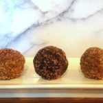 Raw Vegan Cinnamon-and-Sugar Donut Holes<br>(with an almost raw Chocolate Donut Hole variety)