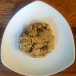 Single Vegan Microwave Peanut Butter-Chocolate Chip Cookie