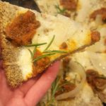 Vegan Cauliflower – Oat Pizza Crust<br> no pre-cooking of cauliflower required, unlike virtually all other recipes