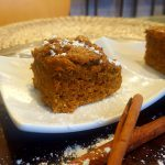 Vegan Pumpkin Cake Bars