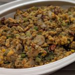 Vegan Cornbread and Vegetable Stuffing&#8211;THE BEST<br>plus it is lower in calories than traditional stuffing