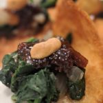 Saag Not-chos (Plant-Based Indian-Spiced Spinach over Pita Triangles with Plum Chutney)