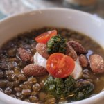 Herb and Garlic Lentil Soup (what to make in a pinch during a pandemic)–vegan and plant-based