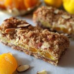 Apricot-Cream Cheese Bars with Oatmeal-Almond Crumble (vegan & plant-based)