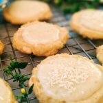 Lime & White Chocolate Shortbread Cookies with Sour Cream-Lime Frosting (vegan & plant-based)
