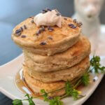 Vanilla-Lavender Silver Dollar Pancakes (vegan and plant-based)