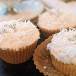 Coconut Cupcakes for 4 with Coconut Pastry Cream and Coconut Cream Cheese Frosting